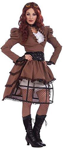 Ladies Steampunk Vicky Costume With Hoop Skirt]()