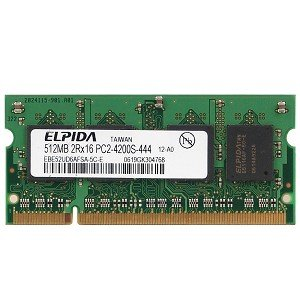 Elpida 512MB DDR2 RAM PC2-4200 200-Pin Laptop SODIMM