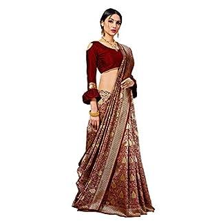 Pehnavaa Women Banarasi art silk Blue saree 41v6JuB6hJL