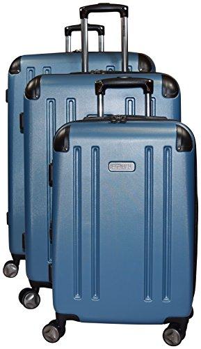 Kenneth Cole Reaction 8 Wheelin Expandable Luggage Spinner Wheeled Suitcase, 3 Pc Set , 29, 25 & 20-inch (Ocean (Hardside Wheeled Suitcases)