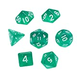 Gbell 7 Pcs/49 Pcs Game Dice Set for Dungeons & Dragons| Role Playing Game | Pathfinder| Shadowrun| D&D|RPG Dice Gaming and Math Teaching,D4-D20 Multi Polyhedral Acrylic Game Dice Set (Mint Green)