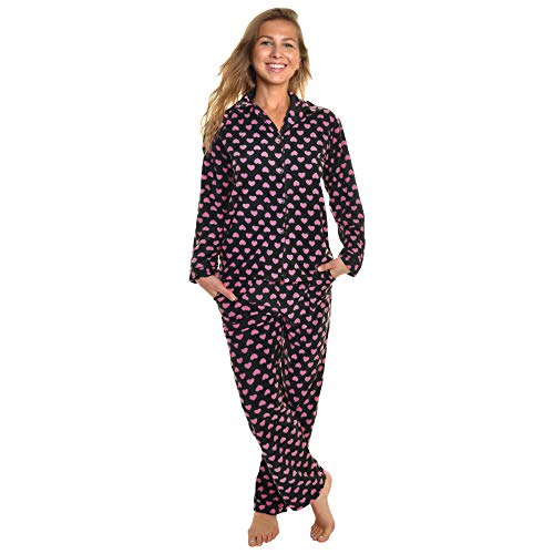 Angelina Cozy Fleece Pajama Set #56_PNKHRT_L
