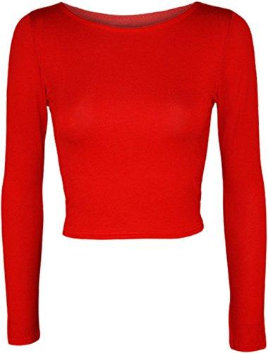 Generic -  Maglia a manica lunga  - Maniche lunghe  - Donna rosso 36