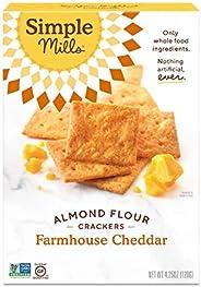 Simple Mills Almond Flour Crackers, Farmhouse Cheddar, Gluten Free, Flax Seed, Sunflower Seeds, Corn Free, Goo