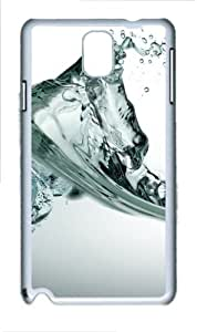 Water Polycarbonate Hard Case Cover for Samsung Galaxy Note 3/ Note III / N9000 - Polycarbonate - White