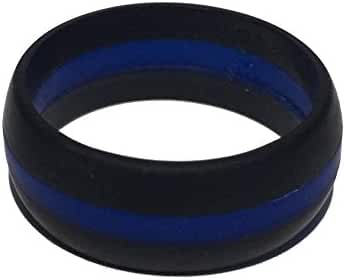 Silicone Wedding Rings - THIN LINE SERIES for Men and Women (8.7 mm width) -- TOUGH LOVE RINGS