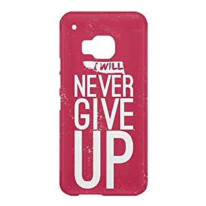 Loud Universe HTC One M9 I Will Never Give Up Print 3D Wrap Around Case - Pink/White