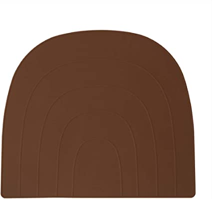 Oyoy M1030 307 Placemat Rainbow Wipe Clean Silicone For Adults And Children 41x34 Cm Caramel Brown Amazon Co Uk Baby