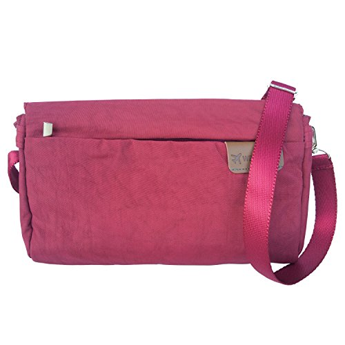 Lightweight Travel small Nylon Satchel Purse Outdoors Burgundy Waterproof Bag Crossbody FanCarry 6x5vqwd68
