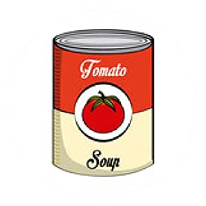 alfombrilla de ratón sopa de tomate - ronda - 20cm