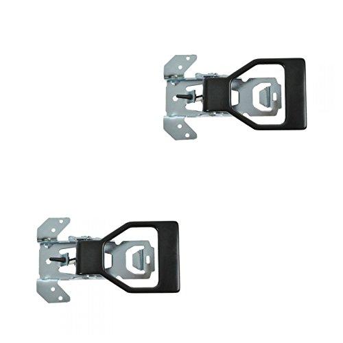 (Black Inner Interior Inside Door Handle Pair Set for 82-92 Camaro Firebird)