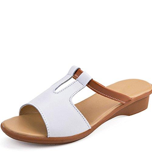 mujeres usan sandalias Forme Pantalones opcionales arrastran tamaño los deslizadores Las femenina Mujer que A Cómodo los a 6 Au deslizadores de frescos planos verano opcional las zapatos colores del Oqx7wqUH
