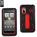 Kingdom Hybrid Case with KickStand for HTC Evo Design 4G - Red