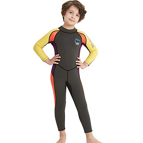 Neoprene Kids Wetsuit for Boys Girls 2.5MM One Piece Full Body Long Sleeve  Swimsuit 660fbfc22