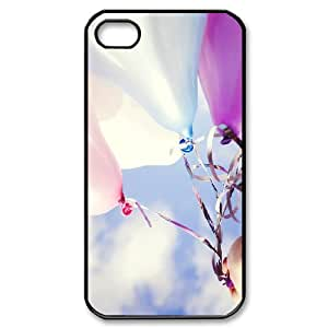 Dustin Balloon IPhone 4/4s Case Funny Cute Colorful Balloons, Iphone 4 Cases for Guys [Black]