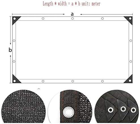 シェーディングネット日焼け止めネット暗号化肥厚バルコニーガーデン屋外断熱ネットシェードラッピングブラック8ピンメッシュ B20/05/18 (Color : A, Size : 2x4m)