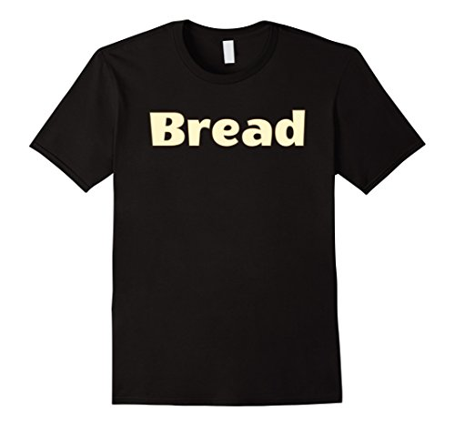 Mens Halloween Costume T-Shirts - Bread and Butter Large (Halloween Bread Costume)