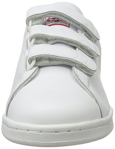 adidas Stan Smith, Bajos para Hombre Blanco (Ftwr White/ftwr White/scarlet)