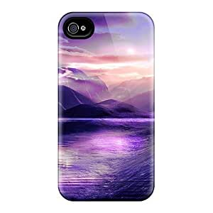 (DZWGVwL7520PaJmT)durable Protection Case Cover For Iphone 4/4s(violet Cove)