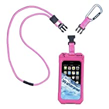 iCat 11043CP-C103 Dri Cat Neck It Waterproof Case with Lanyard for iPhone 4/4S - 1 Pack - Retail Packaging - Pink/White
