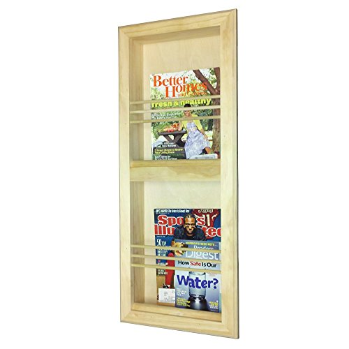 Double Bevel Frame Recessed Magazine Rack by WG WOOD GROUP
