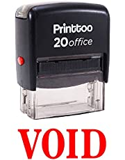Printtoo Self Inking Rubber Stamp Office Stationary VOID Custom Stamp-Red