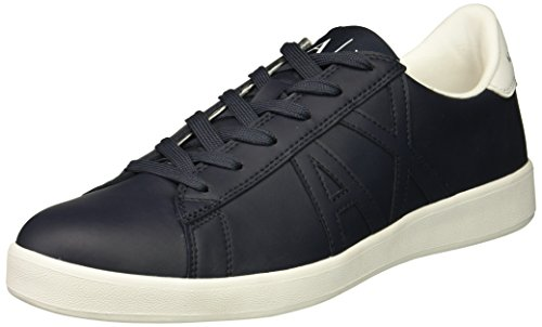 Tonal Men Low Navy Exchange Sneaker Cut X A Logo Armani Iqxw7Cwv