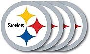 Duck House NFL Pittsburgh Steelers Vinyl Coaster Set (Pack of 4) , 4&