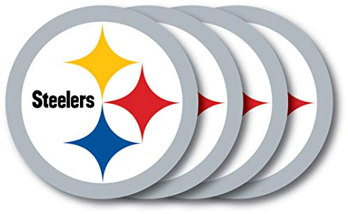 (NFL Pittsburgh Steelers Vinyl Coaster Set (Pack of 4))