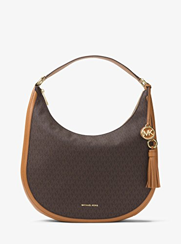 MICHAEL Michael Kors Lydia Logo Shoulder Bag, Color Brown by Michael Kors