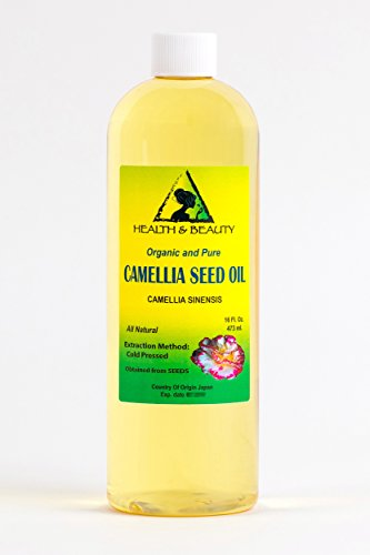 Camellia Seed Oil - Camellia Seed Oil Organic by H&B OILS CENTER Cold Pressed Premium Quality Natural 100% Pure 16 oz