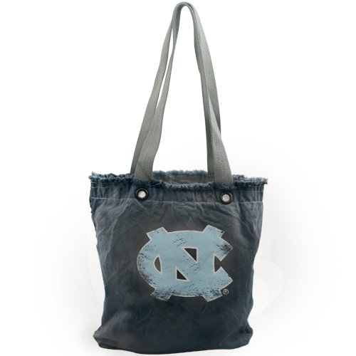 (NCAA North Carolina Tar Heels (UNC) Women's Vintage Shopper Bag - Navy Blue)