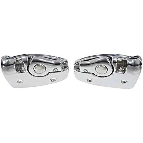 Eckler's Premier Quality Products 50211432 Chevelle Brackets Sun visor Support - Chevelle Visors Sun