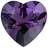 Amethsyt Gem in Heart Shape Grade AAA 10.00 mm in Size 3.3 carats