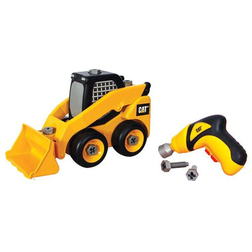 Cat Construction Toys For Toddlers : Toy state caterpillar construction take a part trucks skid