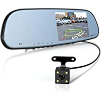 Vantrue N3 Dash Cam Backup Camera and 5'' IPS Touch Screen Rearview Mirror Monitor 1080P Front and Rear Dual Dash Camera with Parking Assistance, IP67 Waterproof LLL Night Vision Reverse Camera