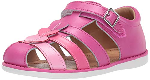 Sr Leather Zipper - Stride Rite Ella Girl's Casual Sandal, Fuchsia, 10 M US Toddler