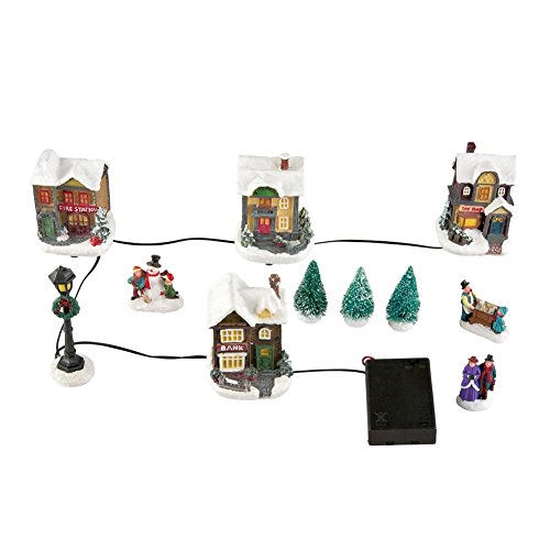 Lighted Holiday Miniature Village Set