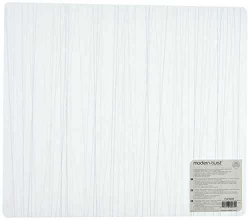 modern-twist Silicone Placemat, Stream Pattern, Silver
