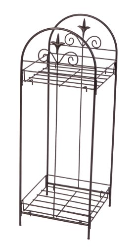 Panacea 86725 Plant Stand, 30-Inch Height, Black (Stand Door Front Plant)