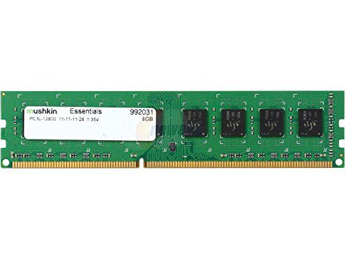 Mushkin Essentials - DDR3 Desktop DRAM - 8GB Memory Single Module DIMM - DDR3L-1600MHz (PC3L-12800) CL-11 - 240-pin 1.35LV RAM - Low-Voltage - Non-ECC UDIMM - (992031)