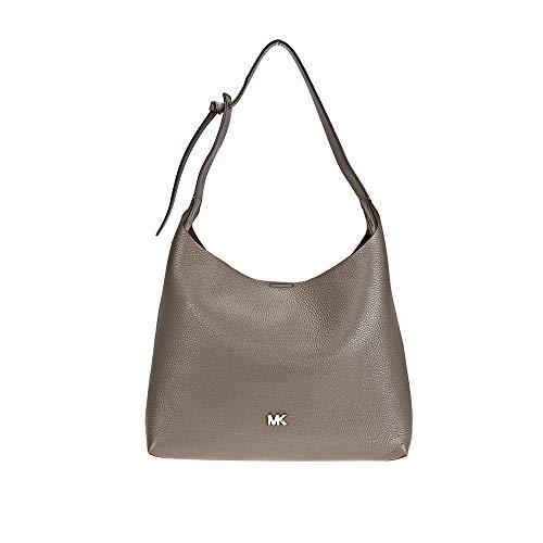 Michael Kors Junie Medium Pebbled Leather Shoulder Bag- Mushroom (Shoulder 250 Bag)