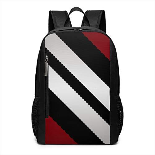 (Red Black Gray Diagonal Stripes Laptop Backpack Business Travel Computer Bags School Bookbag Notebook for Women Men)