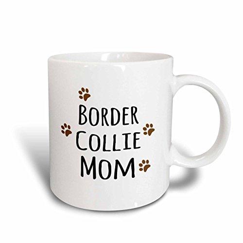 3dRose 154078_2 Border Collie Dog Mom Mug, 15 oz, Ceramic Border Collie Dog Photo
