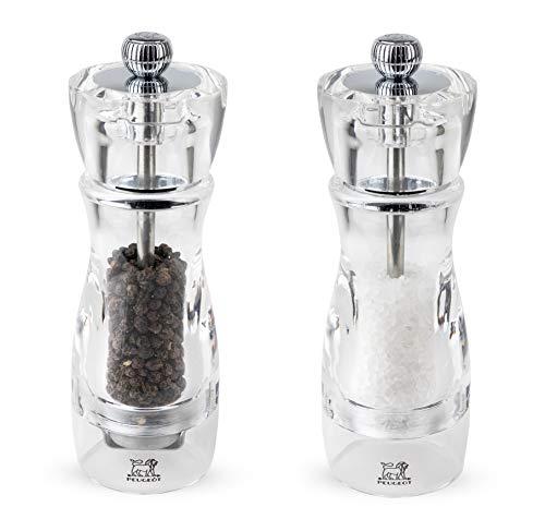 Peugeot 2/18221 Vittel 6.25 Inch Salt and Pepper Mill Set, - Indispensable Mill Set Spice