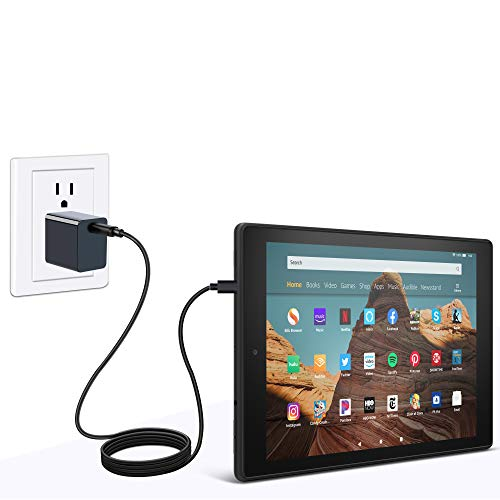 Fire HD 10 Tablet (64 GB, White, With Special Offers) + Amazon Standing Case (Sandstone White) + 15W USB-C Charger