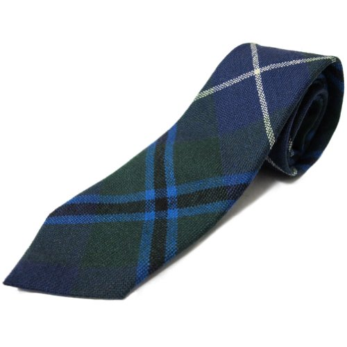 Ingles Buchan Boys Douglas Tartan Tie - 100% Wool Made in Scotland (Douglas 100% Wool)