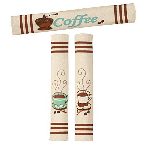Coffee Appliance Handle Covers - Set Of 3, Ivory (Piece Appliance Kitchen 3 Set)