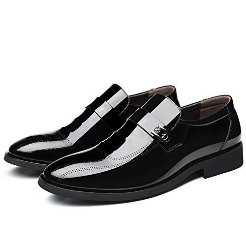 vernice Jiuyue uomo EU Scarpe Lace Dimensione Scarpe Oxford con in stile e uomo da Color 2018 lacci Brown da piede da casual Nero cerimonia Pelle Uomo 41 scarpe stile shoes XrfwqHX
