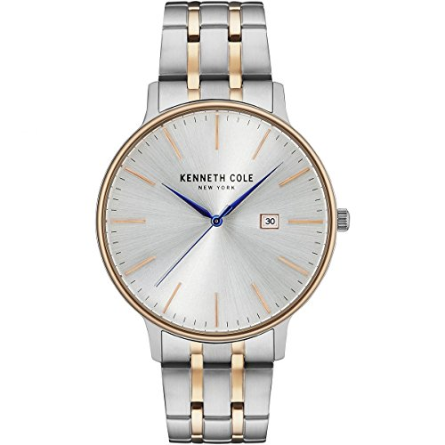 Kenneth Cole New York Men's Classic Quartz Watch with Stainless-Steel Strap, Two Tone, 20 (Model: KC15095003)